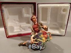 Rare Townsman W Produceorig. Boxvatican Nativity Franklin Mint Fine Porcelain
