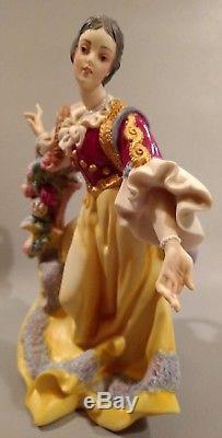 Rare Townswoman Orig. Boxvatican Nativity Franklin Mint Fine Porcelain
