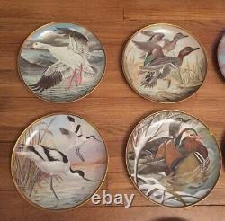 SET 12 WATER BIRDS of the WORLD by BASIL EDE Franklin Porcelain Plates