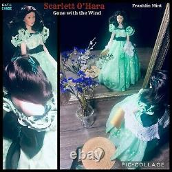 Scarlett O'Hara Franklin Mint Gone with the Wind Porcelain Doll Box and Tags 19