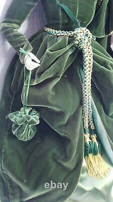 Scarlett O'Hara In Green Drapery Dress Franklin Porcelain Heirloom 22 Doll