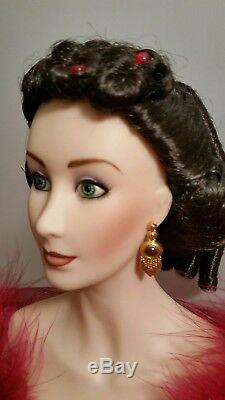 Scarlett O'hara Gone With The Wind Porcelain Doll 22 Tall In Red Dress