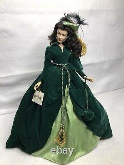 Scarlett O'hara Gone With The Wind Porcelain Portrait Franklin Mint Doll