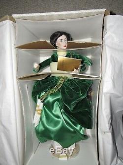 Scarlett O'hara Green Drapery Dress Franklin Porcelain Heirloom 22 Doll Nrfb