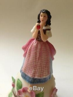 Set 4 Fairy Storybook Princess Bell Figural Figurine Porcelain Franklin Mint