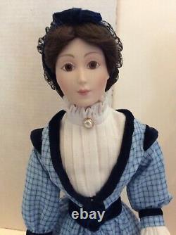 Set Of Franklin Heirloom Porcelain Little Women Dolls Jo Amy Meg Beth Preowned