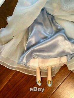Sleeping Beauty Porcelain Doll 1988 Franklin Mint Heirloom Doll and Chaise withCOA