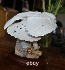 Snowy Owl Porcelain Sculpture The Franklin Mint By George Mcmonigle 1989