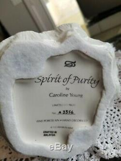 Spirit of Purity Porcelain Sculpture Carolyn Young FRANKLIN MINT B11YS15