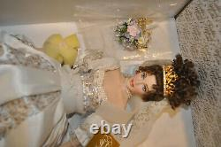 Stunning Franklin Mint Faberge Spring Bride Doll Natalia Porcelain with Jewels Box