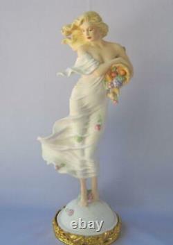 Stunning Large Franklin Mint EARTH by E. Kaufman Porcelain Figurine Art Nouveau
