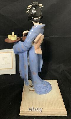 Tamiko, Princess of the Lotus Blossoms by Manabu Saito Fine Porcelain Figurine