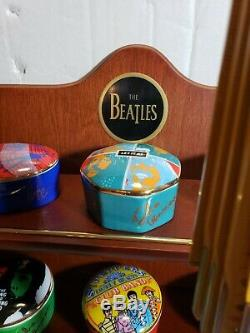 The Beatles Franklin Mint Porcelain Music Box Collection 1992 with wood stand