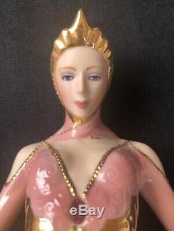The Franklin Mint Art Deco Porcelain Figurine Daybreak in Gold