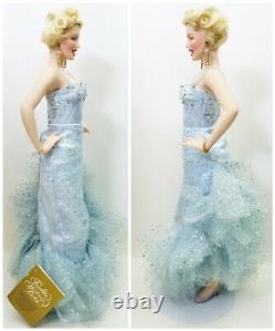 The Franklin Mint Marilyn Monroe Blue Gown Vicky Parker Porcelain Collector Doll