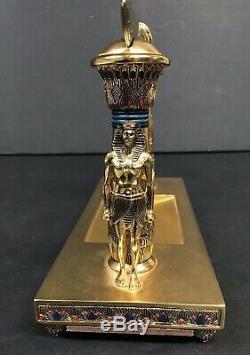 The Franklin Mint Painted PorcelainThe Treasures of Tutankhamun Letter Opener