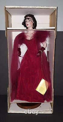 The Franklin Mint SCARLETT O'HARA PORCELAIN DOLL Red Shame Dress NIB