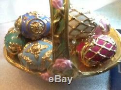 The House Of Fabrege Summer Egg Porcelain Basket Franklin Mint