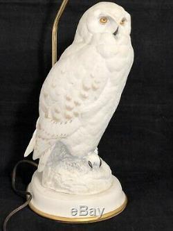 The Snowy Owl Porcelain Lamp By Raymond Watson- The Franklin Mint 1987
