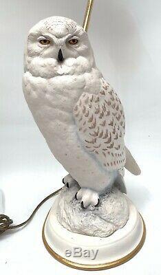 The Snowy Owl Porcelain Lamp Female Raymond Watson Franklin Mint 1987