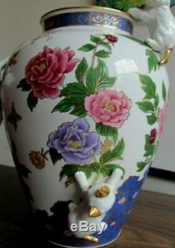 VERY RARE Franklin Mint THE VASE OF THE IMPERIAL Cats. Porcelain Vase 1989