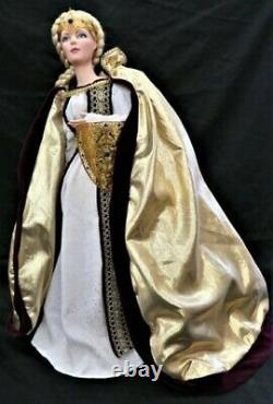 VINTAGE FRANKLIN HEIRLOOM 22 LORD OF THE RINGS LADY EOWYN PORCELAIN DOLL WithBOX