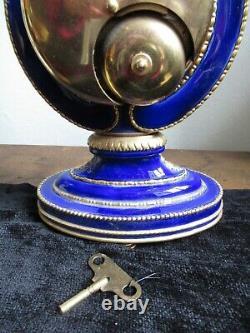 V & A Marie Antoinette Mantel Clock, Franklin Mint, Key WORKING ORDER, CHIMES
