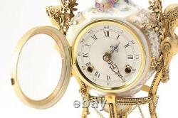 V&A Museum Marie Antoinette Porcelain Striking Mantel Clock Working RARE