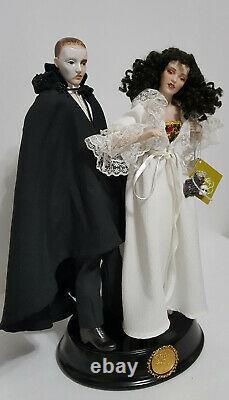 Vintage 1986 Franklin Mint Phantom Of The Opera Porcelain Heirloom Dolls RARE