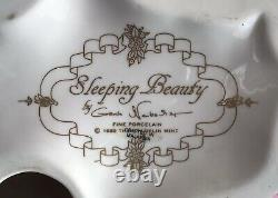 Vintage 1989 Franklin Mint Fine Porcelain Sleeping Beauty Figurine