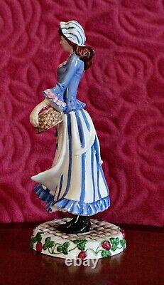 Vintage Franklin Mint Porcelain Figurine'The Strawberry Girl of Covent Garden