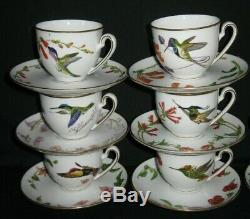 Vintage Franklin Mint Porcelain Hummingbirds of the World Tea Cup & Saucer Sets