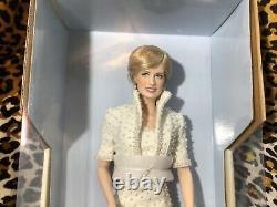 Vintage Princess Diana Porcelain Portrait Doll The Franklin Mint NIB