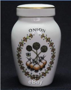 Vintage Spice Rack 24 Porcelain Spice Jars Franklin Mint Gloria Vanderbilt