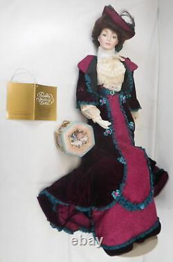 Vtg Franklin Mint Heirloom Gibson Girl Bon Voyage Porcelain Doll NIB 22 Bisque