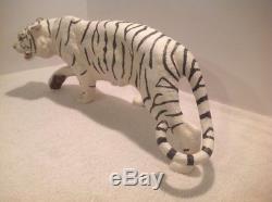 Vtg Franklin Mint Tiger White Majesty Porcelain Sculpture Ltd Edition Base