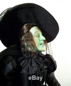 Wicked Witch of the West Doll Franklin Mint porcelain Wizard of Oz Collection
