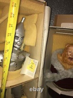 Wizard of Oz Franklin Heirloom Porcelain Dolls Dorothy Tin Man Scarecrow with COA