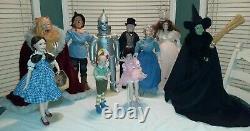 Wizard of Oz Franklin Heirloom Porcelain Dolls Vintage Collection